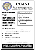 Recorder's Document Reference Manual