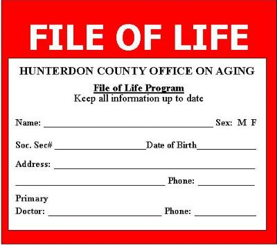 FILE OF LIFE DECAL