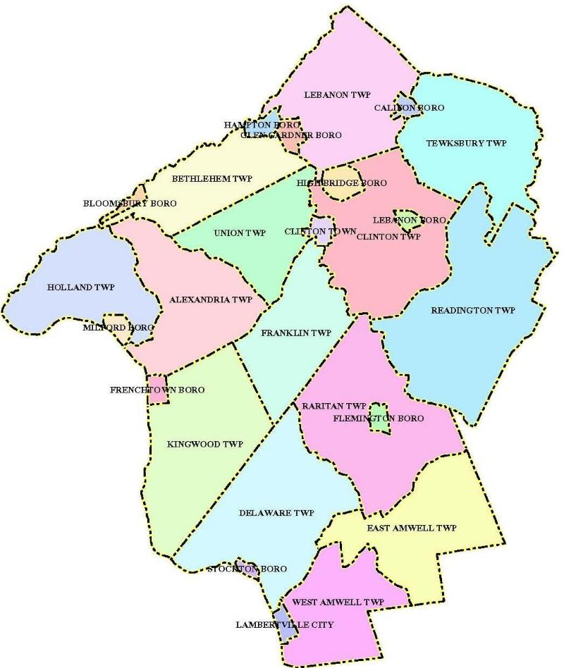Hunterdon County NJ - Nj map