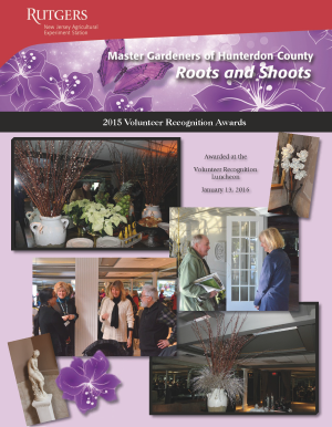 2015 Master Gardeners Volunteer Recognition Awards