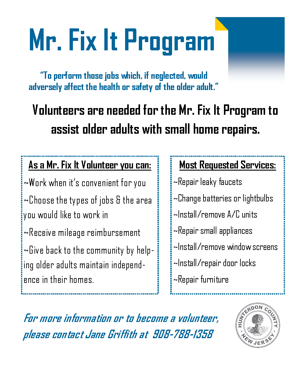Mr. Fixit Brochure