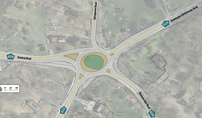 Conceptual Layout of Proposed 523/629 Roundabout Project in Readington Township