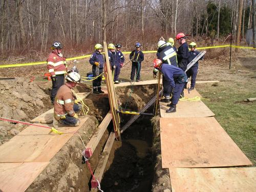 Trench Rescue Operations Practicals: