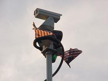 County OEM personnel placed American flags on the camera mast of Command 86