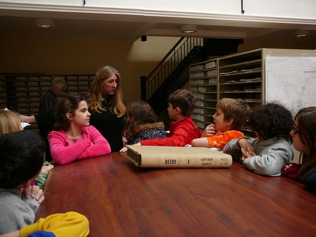 Children Touring the Hunterdon County Hall of Records