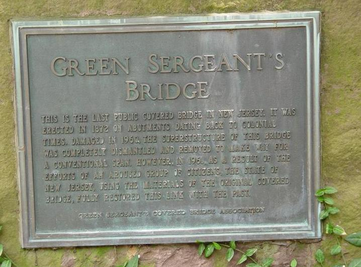 Green Sergeants Covered Bridge Sign