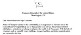 Letter from the US Surgeon General