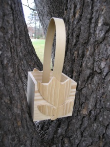 Wood Easter Container