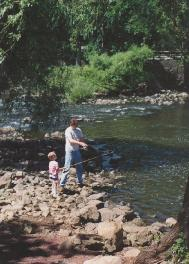 Fishing at Stanton Station