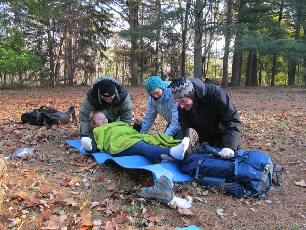 NJ.COM PHOTO - WILDERNESS FIRST AID TRAINING - BOY SCOUTS