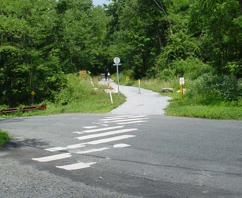 ROAD CROSSING AT THE COLUMBIA TRAIL