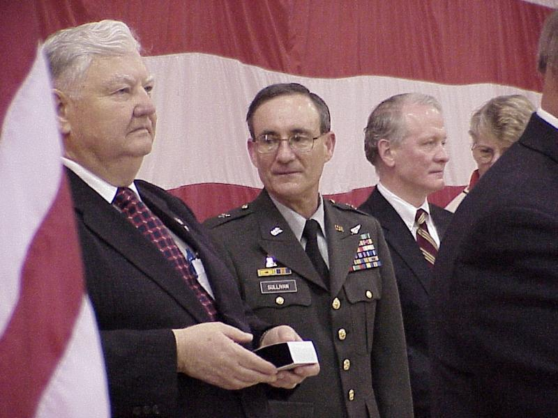 Director Sauerland with Brigadire General Sullivan and Senator Lance